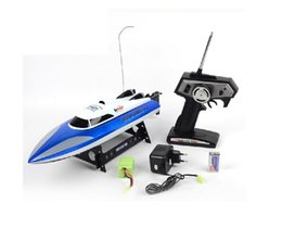 plastic head free shipping UK - Free shipping 20km h high speed 46cm Large-scale rc boats 7010 2.4G 4CH remote control boat speedboat sailing toys