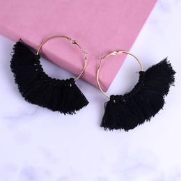 D shapeD jewelry online shopping - 2019 Summer Colorful Neon Tiered Tassel Earrings Big Fan Shaped Drop Earrings For Women Jewelry Dropshipping boucle d oreille