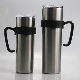 stainless steel tumbler holder UK - Cup 30oz Holders For Black Tumbler Skinny Skinny Handles Stainless KKA7925 Plastic Steel Cup 20oz Handle Holder Mgtjr