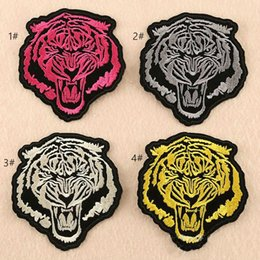 Wholesale embroidered children patches for sale - Group buy 8P High Quality d embroidered tiger headed Iron On Patches cartoon Animal sew on patch for clothing child patch can customer design