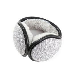 Plush Ear Muffs UK - AZUE Winter Fuzzy Ear Cover Women Warm Knitted Earmuffs Plush Ear Muffs Earlap Warmers For Men Women