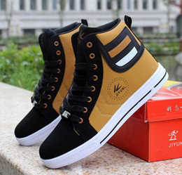 $enCountryForm.capitalKeyWord Australia - SZSGCN428 Men High Shoes Mens Hip-Hop Casual Shoes Hot New Fashion Breathable Comfortable Light Lace Adult High Top Men