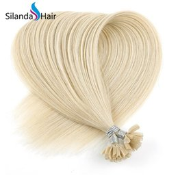 $enCountryForm.capitalKeyWord Australia - Silanda Hair Blonde #613 Straight Bonded Fusion Nail U Tip Remy Human Hair Extensions 50 strands pack Free Shipping
