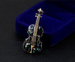 f1fa8f71b Fashion Men Women Wedding Party Violin Brooches Vintage Exquisite Suits  Brooch Pin Accessories Bridal Groom Jewelry Gifts Wholesale