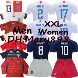 fb411261c Thai quality 2019 2020 USA PULISIC Soccer Jersey 2019 DEMPSEY BRADLEY  ALTIDORE Morgan America Football jerseys United States Shirt S-XXL