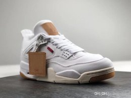 e5592ee5894f Release OG 4 Denim 4s Black White Jean Jiont Limited For Man Basketball  Shoes Sneakers Authentic Quality Come With Original Box AO2571-001