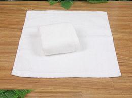 $enCountryForm.capitalKeyWord NZ - 10pcs lot 23*23CM 20g Wholesale Cotton White Hotel Small Kerchief Kitchen Hand Towels Kids Face Towel Travel Towels