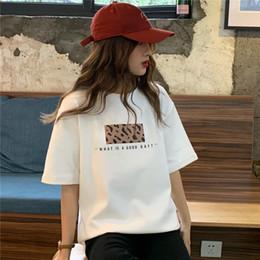 d9cd2fb14 Harajuku T Shirt Women Short Sleeve Summer TShirts 2019 Leopard Printed  Fashion Plus Size korean Clothes White Tops Tees Mujer