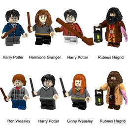 Harry Potter Blocks NZ - Harry Potter Hermione Granger Rubeus Hagrid Ron Weasley Ginny Weasley Mini Action Figure Toy Building Block Bricks