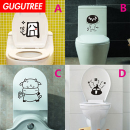 $enCountryForm.capitalKeyWord NZ - Decorate Home toilet cartoon art wall sticker decoration Decals mural painting Removable Decor Wallpaper G-1823