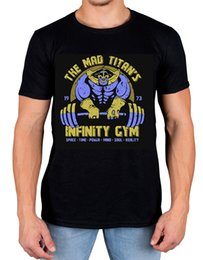 cheap t shirts wholesale purple UK - The Mad Titans Infinity Gym T-shirt Hench Life Manga Thanos Fashion Style Men T Shirts 100% Cotton Classic cheap wholesale