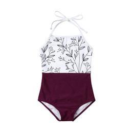 adc1f60c1d5dc 2019 Family Matching Swimsuit Summer Mother Daughter Outfit Women Bikini  Kids Girls Halter One Piece Swimwear Swimming Costume