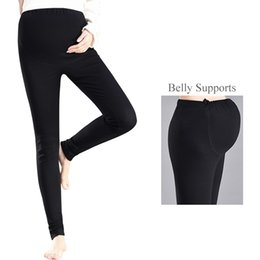 christmas clothes plus sizes Canada - 2018 Cotton Over Belly Maternity Leggings Plus Size Pregnant Women Yoga Fitness Pants Pregnancy Workout Clothes Adjust Trousers