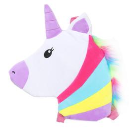 $enCountryForm.capitalKeyWord Canada - Unicorn Flap Bag For Baby Girls Boys Soft Plush Cartoon Schoolbag Kids Shoulder Bags Children Messenger Bolsa Small School Pouch