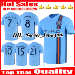 york soccer jersey Canada - New 2019 2020 New York City MLS Soccer Jerseys DAVID VILLA LAMPARD MORALEZ PIRLO NYC Home jersey Camiseta de futbol Maglie football shirt
