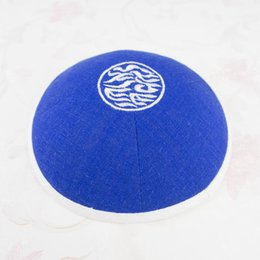 Orange Embroidered Fabrics Australia - Personalized kippah kippot yarmulke Royalblue kipa kippa kipot skullcap,dome for wedding bar-mitzvah Linen fabric with embroidery 100pcs lot