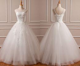 $enCountryForm.capitalKeyWord Australia - 2019 Original Photo Lace Plus Size Wedding Dresses Sale Cheap Sheer Neck Lace up Tulle Long Vestido De Noiva China Bridal Gowns
