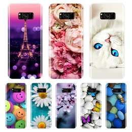 cute samsung s5 cases NZ - Phone Case For Samsung Galaxy S5 S6 S7 Edge Soft Silicone Tpu Cute Cat Painted Back Cover For Samsung Galaxy S8 S9 Plus Case
