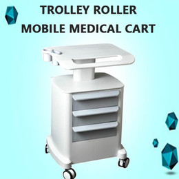 Carts Trolleys Australia - New Trolley Roller Mobile Medical Cart With Draws Assembled Stand Holder For Salon Spa HIFU Machine