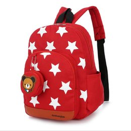 cute little backpacks Australia - NEW Cute Little Stars Children's Backpack Lovely cartoon School Bags For Boys Girls kindergarten bag baby bags 4 colors