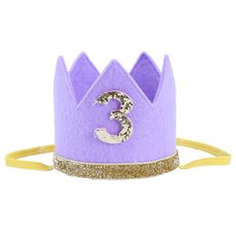 $enCountryForm.capitalKeyWord UK - Baby Boy Girl First Birthday Hat Crown Numbers Headband Tiara Party Photo Props purple 3