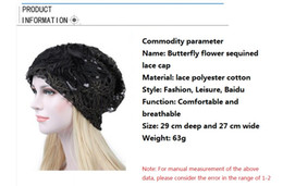 black lace hat Canada - Ladies with hats Hollow lace hats in Spring and Autumn Female Bo Xia Breathable Flowers Moon Chemotherapy Caps Wholesale