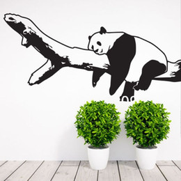 Girls Nursery Wall Stickers Australia - Nursery Room Panda Bear Wall Decal Art Decor Sticker Vinyl Wall Stickers Home Decor Bedroom Girl Boys Bedroom Wall Decals