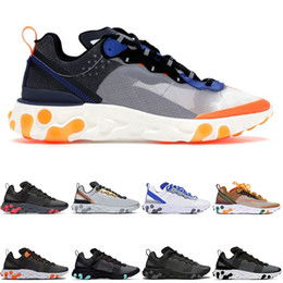 brand x basketball NZ - Chaussures UNDERCOVER x Upcoming React Element 87 Pack White Sneakers Brand Men Women Trainer Men Women Designer Running Shoes Zapatillas