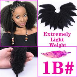 $enCountryForm.capitalKeyWord Australia - Afro Marley Braid Hair 8inch Kinky Twists Hair Crochet Braids 5Colors Curly Crochet Synthetic Braiding Hair