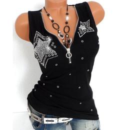 $enCountryForm.capitalKeyWord Australia - New Women Ladies Casual Sexy Hot Drill Zipper Sleeveless Vest Tank Blouse Pullover Tops Shirt For Spring Autumn