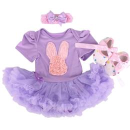 Dresses Champagne Baby Australia - Newborn Baby Girl Dresses Easter Day Rabbit Infantil Children's Clothing Sets Girls Tutu Kids Wear Bebe 1st Easter Party Vestido Y19050602