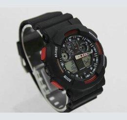 wholesales g shock watches Australia - 2PCS Hot Sale Smart Watch Men G Style Military Army Waterproof Shock Sports Watches Auto Light LED Fashion Relojes Rubber Male Clock GG100