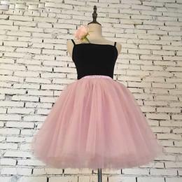 $enCountryForm.capitalKeyWord Australia - Skirts Womens 7 Layers Midi Tulle Skirt Fashion Tutu Skirts Women Ball Gown Party Petticoat Lolita Faldas Saia