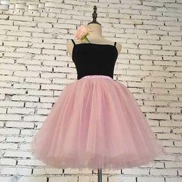 $enCountryForm.capitalKeyWord Australia - Womens Skirts 7 Layers Midi Tulle Skirt Fashion Tutu Skirts Women Ball Gown Party Petticoat Lolita Faldas Saia