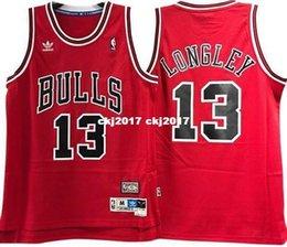 $enCountryForm.capitalKeyWord Australia - LUC LONGLEY #13 Sewn high quality Retro red Vintage Top JERSEY Mens Vest Size XS-6XL Stitched basketball Jerseys Ncaa