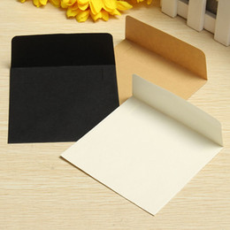 kraft wedding invitations 2019 - 20pcs set Vintage White Black Kraft Blank Mini Paper Window Envelopes Wedding Invitation Greeting Cards Envelope Gift 3
