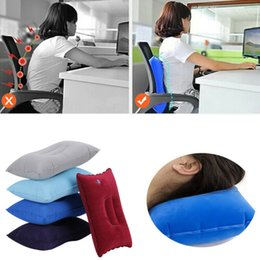 travel pillows for airplanes Australia - Inflatable Air Travel Pillow Airplane Neck Head Chin Cushion Office Nap Rest Pillow Sleeping Lightweight for Airplane Car Train