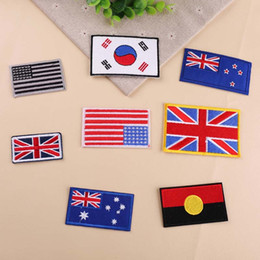 $enCountryForm.capitalKeyWord Australia - USA America Britain Korea Australia Germany Canada National flag Patch iron sew on patch Embroidered Military tactics uk badges