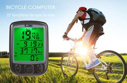 Wired Speedometer Australia - 27in1 wired Bicycle Computer Water Resistant Cycling Odometer Speedometer Waterproof LCD Display Bike Computer with Green Backlight