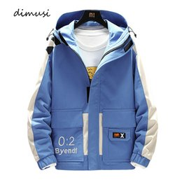 Wholesale anorak jackets resale online - DIMUSI Men s Cargo Jackets Male Outwear Windbreaker Anorak Hoodies Fashion Mens Hip Hop Harajuku Pilot Bomber Jackets Clothing
