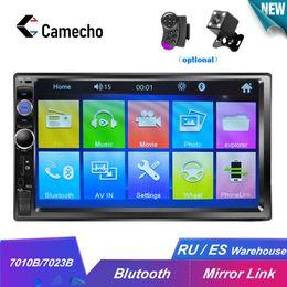 "bluetooth car cameras 2019 - Camecho HD 7"" Autoradio 2 Din Car Radio Bluetooth Car Audio Mp5 Multimidio Player 12V Auto Audio Stereo USB SD Rear"