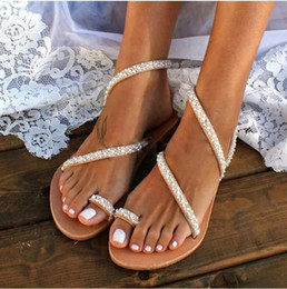 $enCountryForm.capitalKeyWord Australia - Wedding Handmade to order sandals, Bridal flats,shoes with pearls, fashion beach flower sandals,luxury comfortable shoes