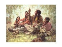 $enCountryForm.capitalKeyWord Australia - Howard Terpning Storyteller Hand-painted  HD Print Portrait Wall Art Oil painting On Canvas Home Decor Multi sizes  Frame Options WC22