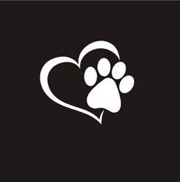 $enCountryForm.capitalKeyWord Australia - Rylybons 1 Pcs 11x10CM Heart Vinyl Decal car sticker engine hood window stickers nick cover cat dog footprint car styling