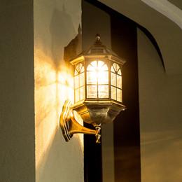 $enCountryForm.capitalKeyWord Australia - Retro 220v 110v Glass Led Outdoor Solar Waterproof Wall Lighting Lamp Sconce for Street Home Porch Gate Balcony Veranda House