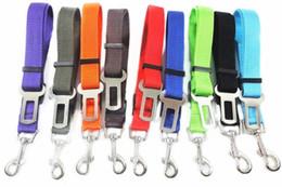 Clip Nylon Dog Collar Australia - Adjustable Pet Dog Safety Seat Belt Nylon Pets Puppy Seat Lead Leash Dog Harness Vehicle Seatbelt Pet Supplies Travel Clip free ship