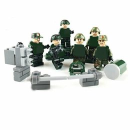 Chinese  6pcs lot Military Modern Guard Army Building Blocks Bricks Models Set Figures Toys Children Gift Toys manufacturers