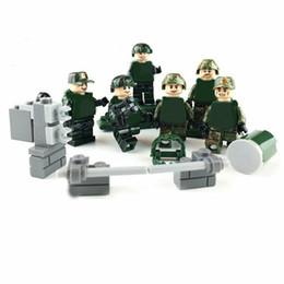 Military Figures Australia - 6pcs lot Military Modern Guard Army Building Blocks Bricks Models Set Figures Toys Children Gift Toys
