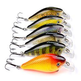 "Fishing Lures Deep Minnow Australia - 6 colors Floating Fishing Lure 3""-7.6cm Minnow Fishing Crank Baits 6# Hook 0.6-2.1m Deep Wobbles Swimbait Fishing Tackle Accessories"
