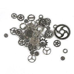 $enCountryForm.capitalKeyWord Australia - About 100pcs lot DIY jewelry Making Vintage Metal Mixed Gears Steampunk Gear Pendant Charms Bronze Bracelet Accessories